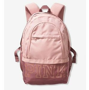 Pink rose gold backpack